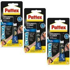 3 x 3g Pattex Sekundenkleber Kraftkleber Ultra Kleber Alleskleber Großpackung