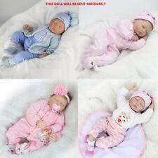 22'' Reborn Baby Dolls Lifelike Vinyl Silicone Newborn Handmade Doll+Clothes US