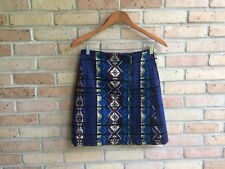 J.Crew $128 Womens Zip Jacquard Mini Skirt (c9140) - size 2  EUC FAST SHIP