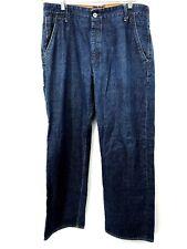Polo Ralph Lauren Mens Leeds Binding Carpenter Blue Straight Jeans 36 X 32