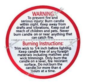 Candle Warning Sticker Generic Warning Sticker Burning Warning Label 38mm 40pcs
