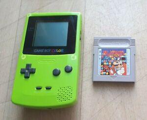 Console Nintendo Game Boy Gameboy Color GBC Vert Green + Dr. Mario - Bon Etat