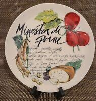 """Ceramica Cuore Plate """"Minestra di Pane"""" Vegetable Bread Soup Plate Made in Italy"""