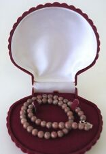 Marble Stone Necklace with cool smooth round beads Beautiful Patterning