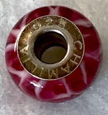 chamilia charm Glass Murano Raspberry Beret SS Bead