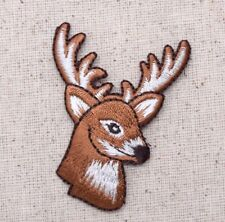 Buck Whitetail Deer Head/Antlers - Hunting - Iron on Applique/Embroidered Patch