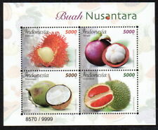 INDONESIA 2017-12 LOCAL FRUITS EMBOSSED SS SOUVENIR SHEET STAMPS