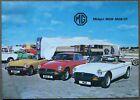 1977 MG Midget MGB and MGB GT Brochure