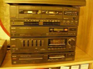 Stereoanlage Sanyo HiFi Kompakt Baustein 4 teilig