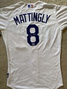 Don Mattingly Signed jersey Los Angeles Dodgers Manager #8 PSA/DNA autograph COA
