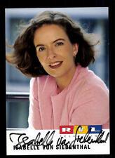 Isabelle von Siebenthal RTL Autogrammkarte Original Signiert # BC 40035