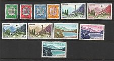 Andorra French Administration Scott 143-153, MNH, Coat of Arms-Gothic Cross Set