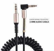 AUX Audio Spiralkabel 1,8m 3,5mm Klinke Winkel Stereo MP3 iPod Handy Auto