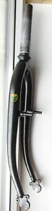 "REYNOLDS 501 STEEL MOUNTAIN BIKE FRONT FORKS FOR 24"" WHEELS COST £95 INC HEADSET"