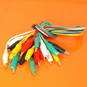 Quality 10 Piece Alligator Crocodile Clips Test Leads Electrical Clamp Insulated