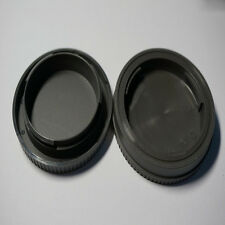 Black Rear Lens Cap + Camera Front Body Cover for Sony E-Mount NEX-3 NEX-5 EX