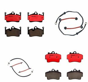 Brembo Front and Rear Brake Pads Sensors Kit for Porsche Boxster Cayman 2.7L H6