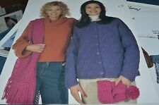 Classic Elite Knitting Pattern 9035 Two Two Sweaters & Accessories