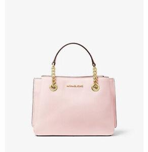 Michael Kors Teagan Messenger Crossbody Tote Bag Powder Blush Pink $368
