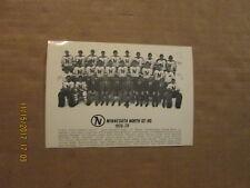 NHL Minnesota North Stars Vintage Defunct 1978-79 Black & White Photo Postcard