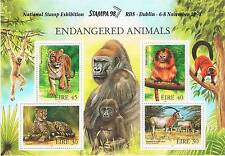 Ireland 1998 Endangered Animals STAMPA Members sheet RARE