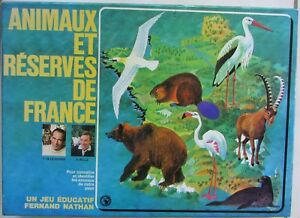Jeu éducatif Animaux et Réserves de France / Fernand Nathan À partir de 7 ans
