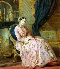 Oil картина маслом Кристина Робертсон приятно молодая девушка сидит в спальне