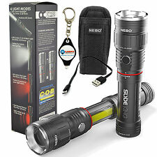Nebo Slyde King 6434 Rechargeable LED Flashlight with Holster & Keychain Light