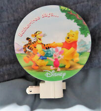 NEW DISNEY WINNIE THE POOH & FRIENDS BOTHERFREE DAYS  NIGHT LIGHT ROTARY SHADE