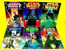 Vtg STAR WARS 1991 Dark Horse DARK EMPIRE Comic Book Set #1-6 Movie Tie-In LUKE