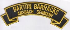 Barton Barracks, Ansbach Germany embroidered patch