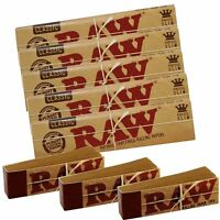 Raw King Size Classic Rolling Papers And Raw Tips Paper Hemp Set