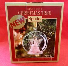 SPODE CHRISTMAS TREE ORNAMENT ANGLEL MULTICOLOR GLASS ORNAMENT NEW IN BOX