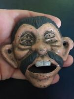 Mexican Cast Iron Beer Bottle Opener Brewery Antique Style Muchachos Rare g/vg