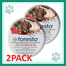 2PACK Bayer Seresto/Foresto Flea & Tick Collar For Large Dogs over 18lbs (8kg)