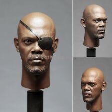 "Hot 1/6 Scale Captain America Nick Fury Head Sculpt 2.0 For 12"" Male Body Figure"