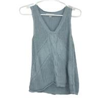 Cabi Womens Sleeveless V Neck Pullover Sweater Vest Baby Blue Size Medium