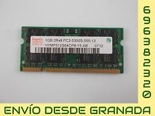 MEMORIA RAM SO-DIMM 1 GB PC2-5300S HYNIX HYMP512S64CP8-Y5 #14