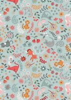 Half Mtr Lewis & Irene Purrfect Floral Cats 100% cotton quilt