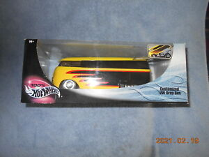 HOT WHEELS CUSTOMIZED VW DRAG BUS IN 1/18 SCALE, NEW IN FACTORY SEALED BOX!