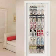 The Door Shoe Cabinet Organizer 24 Pocket Pantry Closet White Clear Over