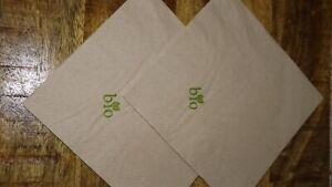 Bio Servietten 2lagig 33x33cm 1/4 Falz naturbraun Öko 100% Recycling 300-4800 St