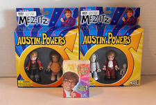 2002 Austin Powers Mez-itz with 1999 Groovy Trading Cards 5 Figures in all NIP
