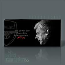 ARSENIO Wenger Arsenal leggenda iconica Tela ARTE ART Williams aggiornamento a 120x56cm