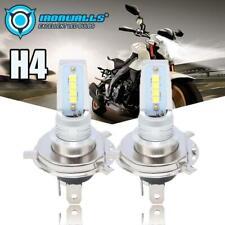 55W H4 9003 HS1 LED COB Motorcycle Hi/Lo Beam Headlight Car Bulb 6000K White 12V