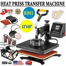 0470cd3f8 8 in 1 Transfer Sublimation T-Shirt Mug Hat Plate Cap Heat Press Machine