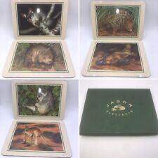 🌟Jason Set Of 6 Native Australian Animals Placemats By Stapleford Boxed