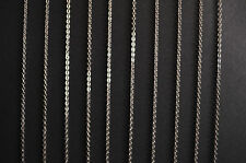 SILVER TONE 316L STAINLESS STEEL LINK NECKLACE -ANY LENGTH- BULK WHOLESALE CHAIN