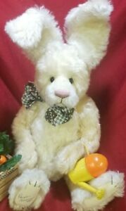 "Rosalie Frischmann ""Yellow Bunny"" OOAK artist teddy bear RABBIT Mill Creek 15"""