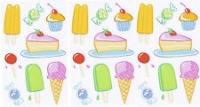 Mrs Grossman's Sheer COLOR SWEETS Ice Cream PIE Cake Scrapbook Stickers 3 Sheets